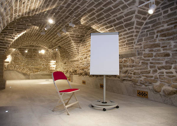 Empty Poster featuring the photograph Meeting Rooms Vaulted Ceilings by Jaak Nilson