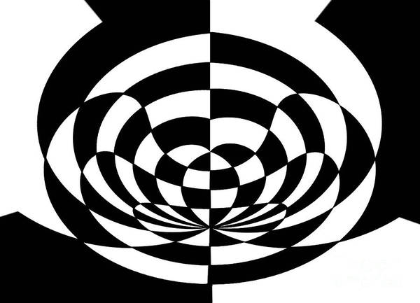 Op Art 2 Poster featuring the painting Op Art 2 by Methune Hively