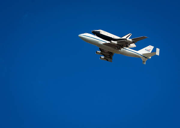 Space Shuttle Poster featuring the photograph Shuttle Enterprise Through A Clear Sky by Anthony S Torres