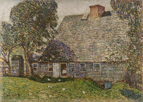 The Old Mulford House Poster featuring the painting The Old Mulford House by Childe Hassam