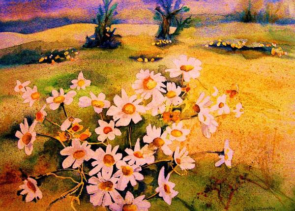 Daisies Poster featuring the painting Daisies In The Sun by Carole Spandau