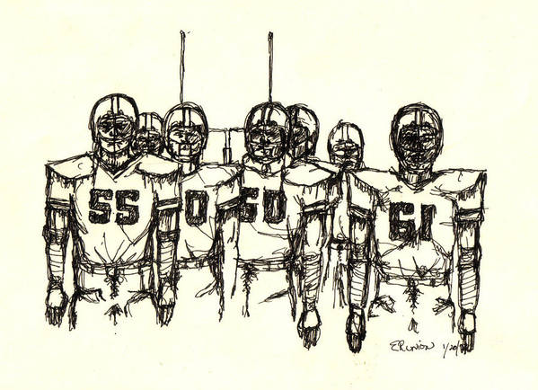 Football Poster featuring the mixed media Football Nasties by Brett H Runion