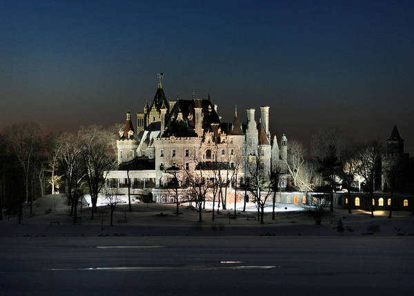 Thousand Islands Poster featuring the photograph Frozen Boldt Castle by Lori Deiter