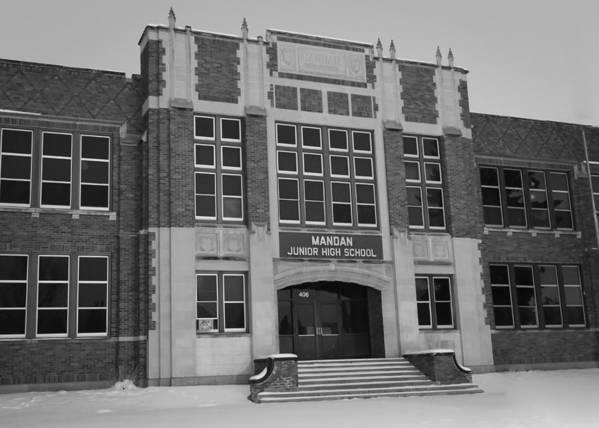 Mandan Poster featuring the photograph Mandan Jr High School by Chad Rowe