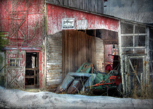 Old Red Barn Poster featuring the photograph Rye Valley Stock Farm by Lori Deiter