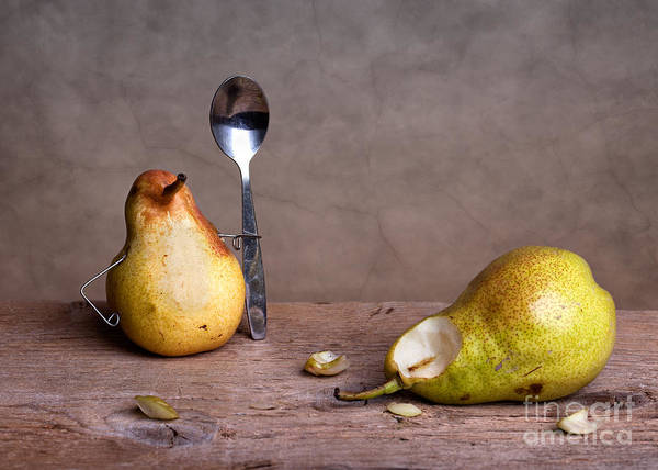 Pear Poster featuring the photograph Simple Things 14 by Nailia Schwarz