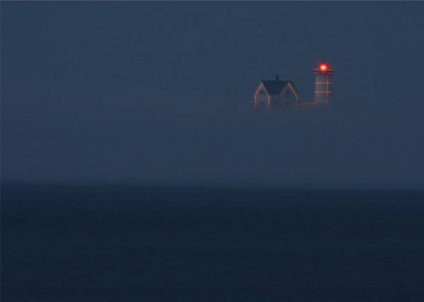 Atlantic Ocean Poster featuring the photograph The Nubble At Night by Lori Deiter
