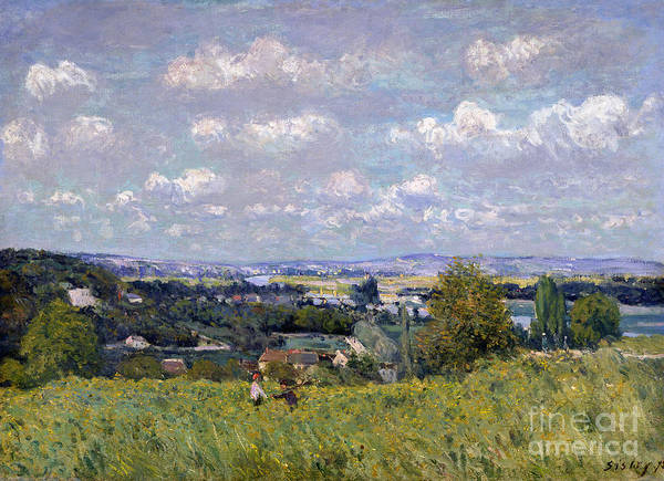 The Valley Of The Seine At Saint-cloud Poster featuring the painting The Valley Of The Seine At Saint Cloud by Alfred Sisley