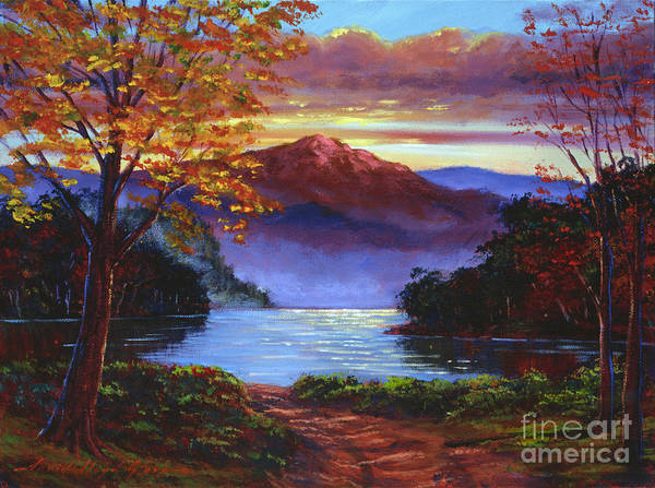 Landscape Poster featuring the painting A Moment Of Softness by David Lloyd Glover
