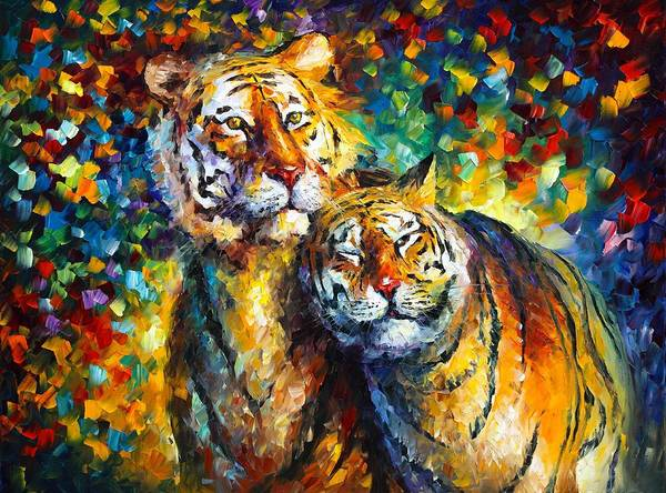 Afremov Poster featuring the painting Sweetness by Leonid Afremov