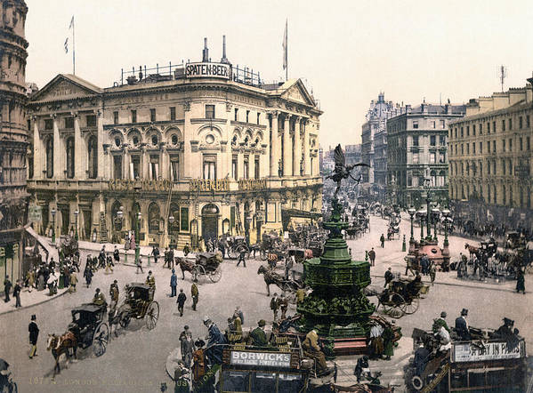 1890 Poster featuring the painting London Piccadilly Circus by Granger