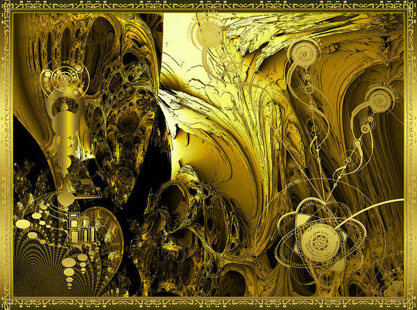 Robert Kernodle Alien Greeting Cards Poster featuring the digital art Advanced Mind by Robert Kernodle