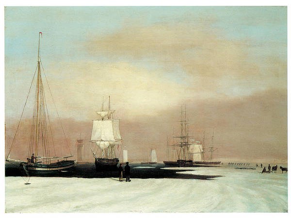 John Blunt Poster featuring the painting Boston Harbor by John Blunt