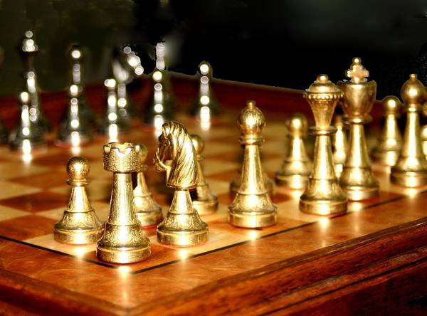 Chess Poster featuring the photograph Chess Set by Diane Merkle