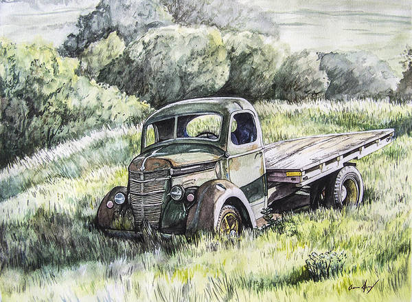 Truck Poster featuring the painting Forgotten by Aaron Spong