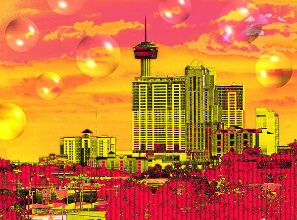 San Antonio Poster featuring the digital art Inner City - Day Dreams by Wendy J St Christopher
