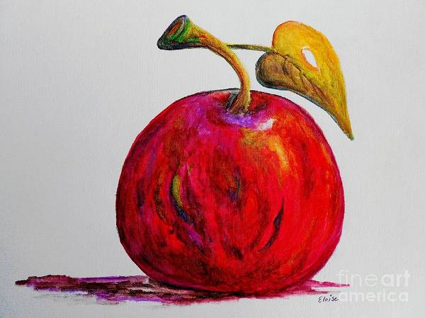 Apple Poster featuring the painting Kaleidoscope Apple -- Or -- Apple For The Teacher by Eloise Schneider