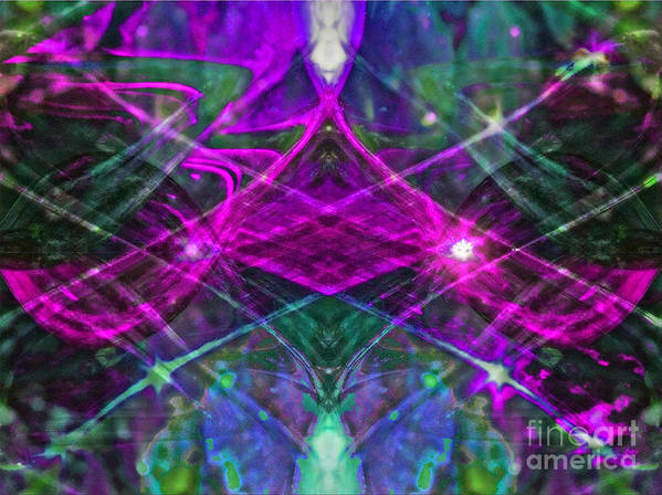 Abstract Poster featuring the photograph Multiplicity Universe 2 by Chris Anderson