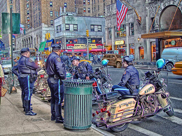 September Poster featuring the photograph Nypd Highway Patrol by Ron Shoshani