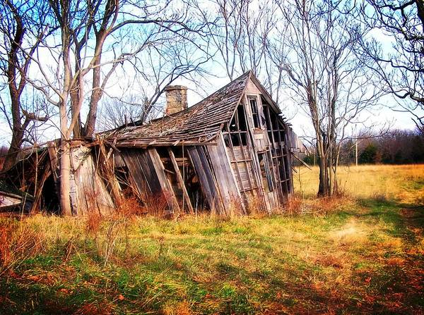 Landscape Poster featuring the photograph Old Ozark Home by Marty Koch