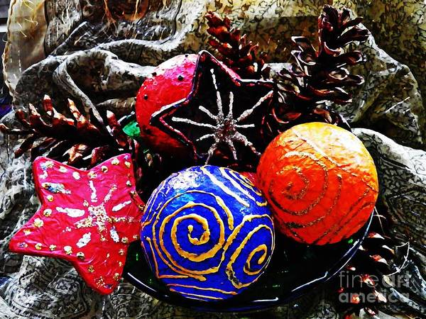 Christmas Poster featuring the photograph Ornaments 7 by Sarah Loft