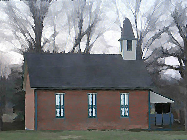 School Poster featuring the photograph Schoolhouse by Brenda Conrad