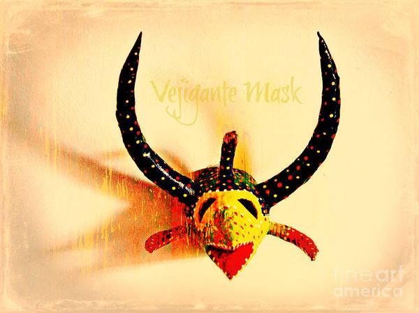 Vejigante Poster featuring the photograph Vejigante Mask by Lilliana Mendez