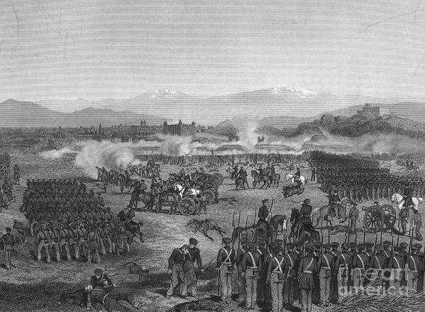 1847 Poster featuring the photograph Battle Of Molino Del Rey by Granger