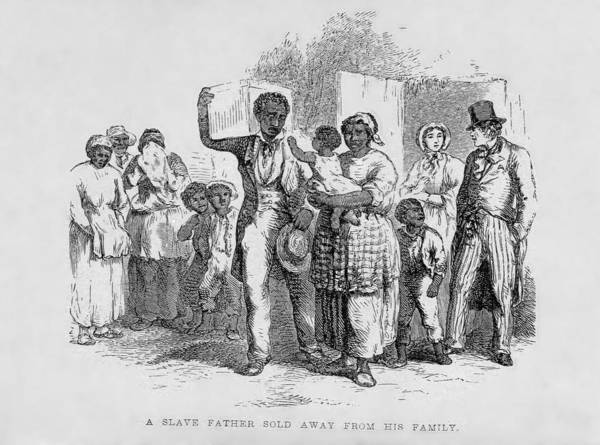 History Poster featuring the photograph A Slave Father Sold Away by Everett