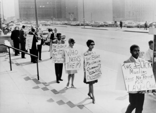 History Poster featuring the photograph African Americans Protesting Black by Everett