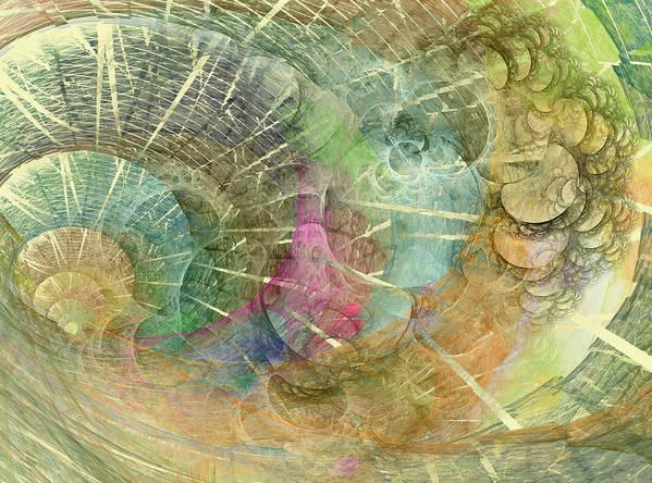 Fractal Poster featuring the digital art Coastal Cosine Gem by Betsy Knapp
