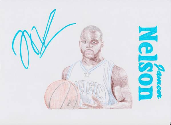 Jameer Poster featuring the drawing Jameer Nelson by Toni Jaso