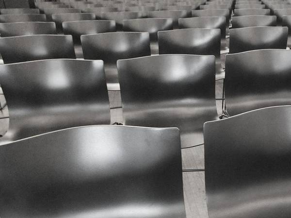 Chairs Poster featuring the photograph Sea Of Seats I by Anna Villarreal Garbis
