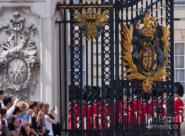 Britain Poster featuring the photograph Tourists At Changing Of The Guards by Andrew Michael