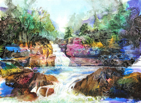 Art Poster featuring the painting Buttermilk Falls IIi by Patricia Allingham Carlson