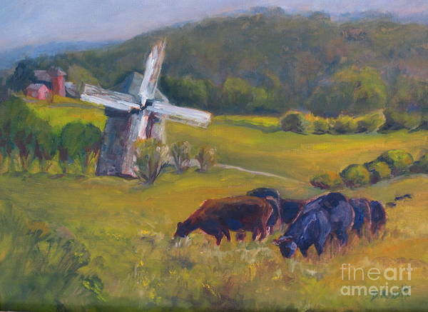 Art Poster featuring the painting Angus On The Ridge by B Rossitto