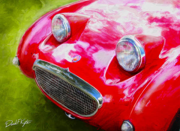 Austin Healey Bugeye Poster featuring the digital art Austin Healey Bugeye Sprite by David Kyte