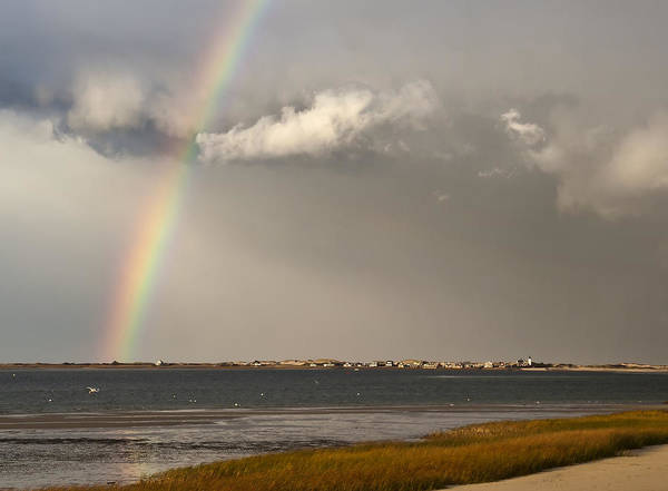 Rainbow Poster featuring the photograph Barnstable Harbor Rainbow by Charles Harden
