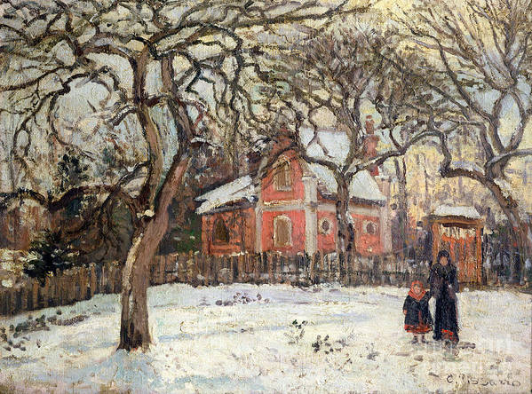 Chestnut Poster featuring the painting Chestnut Trees At Louveciennes by Camille Pissarro