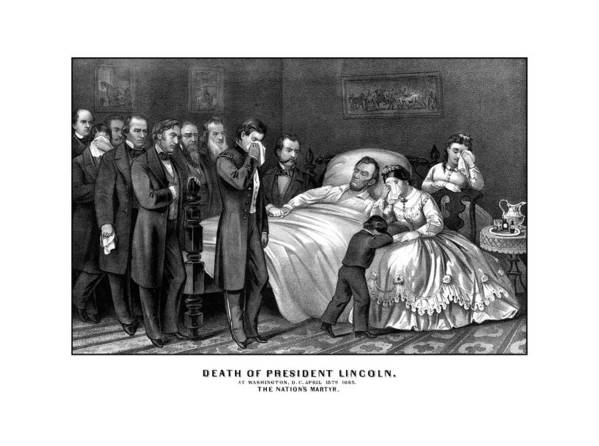 Abraham Lincoln Poster featuring the drawing Death Of President Lincoln by War Is Hell Store