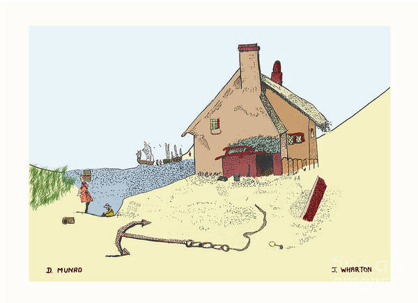 James Wharton Poster featuring the drawing Home By The Sea by Donna Munro