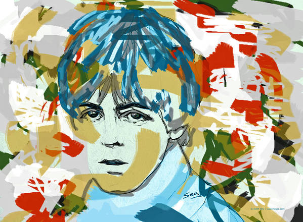 Paul Mccartney Poster featuring the painting Paul Mccartney by Suzanne Gee