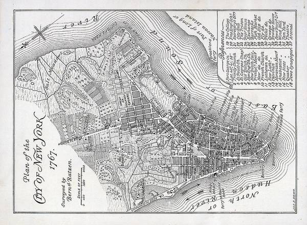 Map Poster featuring the painting Plan Of The City Of New York by American School