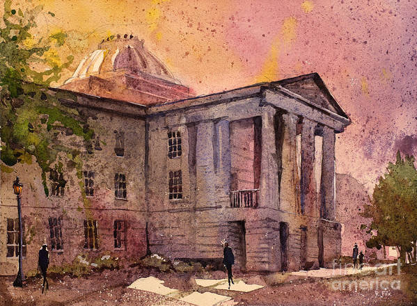 Art Prints Poster featuring the painting Raleigh Capital by Ryan Fox