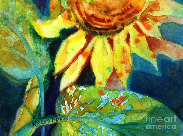 Painting Poster featuring the painting Sunflower Head 4 by Kathy Braud