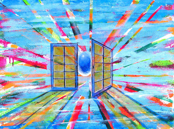 Spirt Poster featuring the painting These Open Doors by Rollin Kocsis