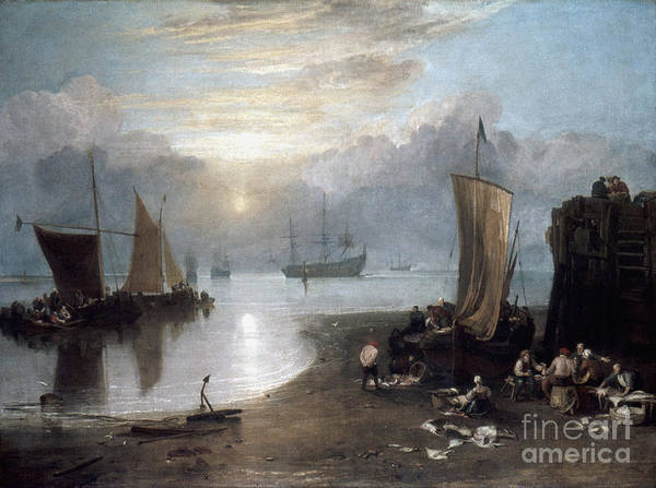 1807 Poster featuring the photograph Turner: Sun Rising C1807 by Granger