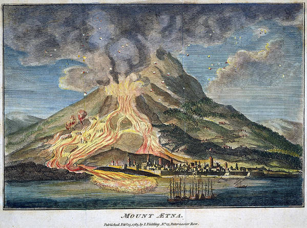 1783 Poster featuring the photograph Volcano: Mt. Etna by Granger
