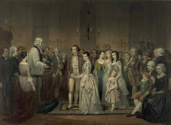 History Poster featuring the photograph Wedding Of George Washington And Martha by Everett