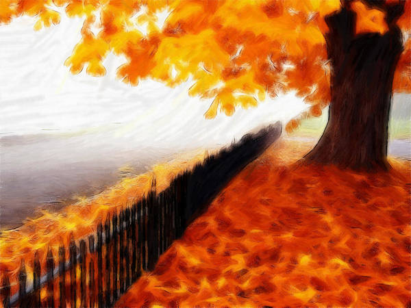Autumn Poster featuring the pastel Autumn by Steve K